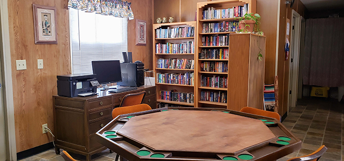 RV Park With Library and books you want
