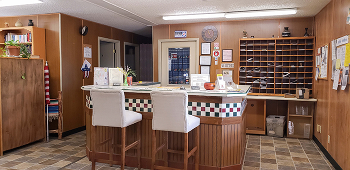 Mountain View RV Resort Mail Room for all your mail needs